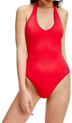 Tommy Hilfiger Halter Neck One Piece Swimsuit