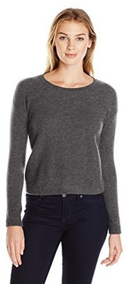 Lark & Ro Amazon Brand Women's 100% Cashmere Soft Honeycomb Stitch Crewneck Sweater