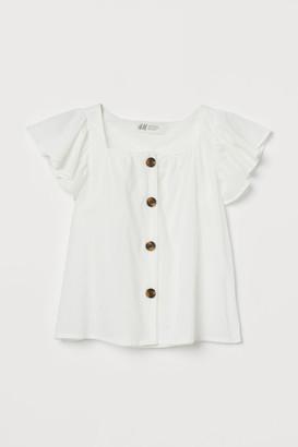 H&M Flutter-sleeve blouse