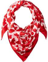 Kate Spade Heart Party Square Scarf Scarves