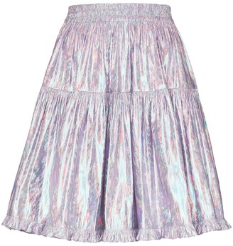 Batsheva High-Shine Full Mini Skirt