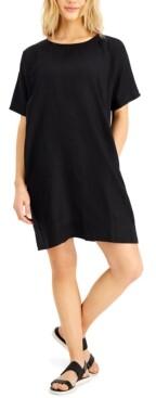 Eileen Fisher Linen Round Neck Dress