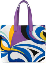 Emilio Pucci abstract print tote - women - Leather/polyester - One Size