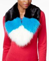 Betsey Johnson xox Trolls Faux-Fur Colorblocked Muffler, Only at Macy's