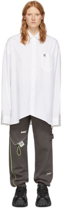 Ader Error White Vader Shirt Dress