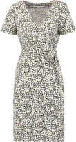 Diane von Furstenberg Julian wrap-effect printed cotton and silk-blend dress