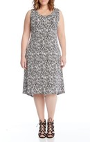 Karen Kane Plus Size Women's Print High/low Hem Dress