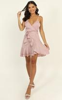 Showpo Just Kiss Me Dress in blush satin - 6 (XS) Hens Night
