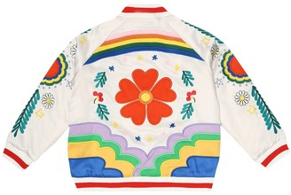 Stella McCartney AppliquAd bomber jacket