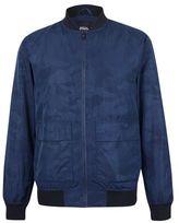 Burton Mens Blue Camouflage Bomber Jacket