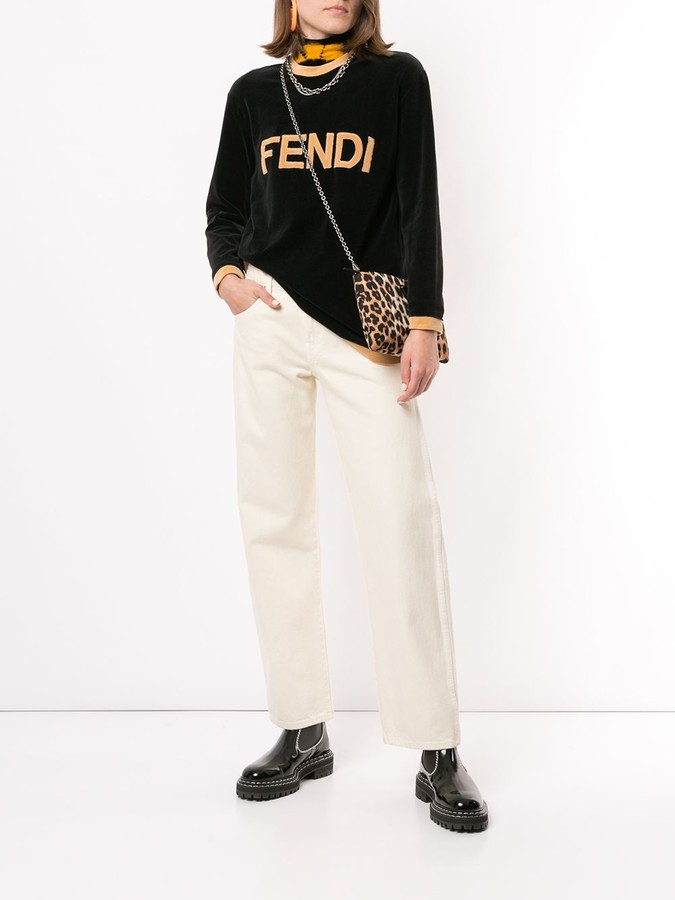 Thumbnail for your product : Fendi Pre-Owned Logo Textured Jumper