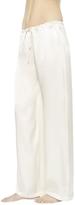 La Perla Petit Macrame Natural Pure Satin Silk Classic Trousers