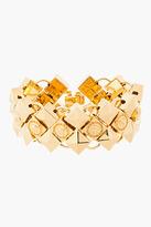 Versace Gold emblem prism stud Bracelet