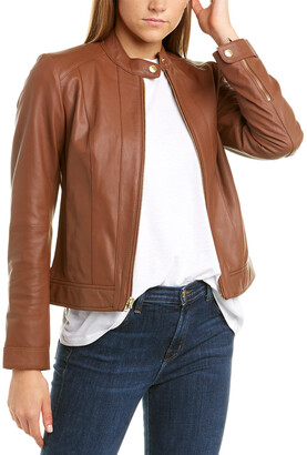 Cole Haan Racer Leather Jacket
