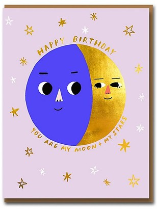 1973 Moon and Stars Birthday Card