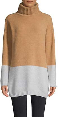 BCBGMAXAZRIA Colorblock Turtleneck Sweater