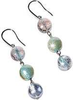 Antica Murrina Veneziana Redentore 1 - Pastel Pink and Green Murano Glass & Silver Leaf Dangling Earrings