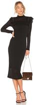 Smythe Knit Ruffle Dress