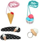 Ice Cream Ring Necklaces & Hairclips Set