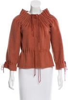 Carolina Herrera Wool Long Sleeve Jacket