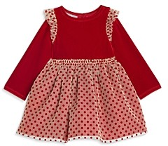 Pippa & Julie Girls' Stretch Velvet Top Dress - Baby