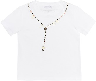 Dolce & Gabbana Kids Embellished cotton T-shirt