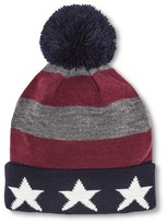 Mossimo Men's Americana Cuff With Pom Red/White/Blue One Size