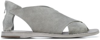 Officine Creative Open Toe Crossover Strap Sandals