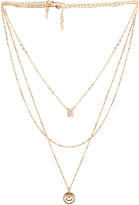 Ettika Circle Pendant Layered Necklace