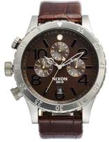 Nixon 'The 48-20' Chronograph Leather Strap Watch, 48Mm