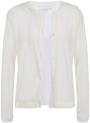 Majestic Filatures Layered Cotton And Cashmere-blend Cardigan