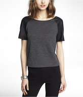Express (Minus The) Leather Sleeve Tee