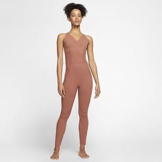 Nike Women's Infinalon Jumpsuit Yoga Luxe