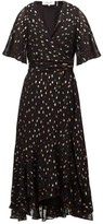 Diane von Furstenberg Berdina Fil-coupe Chiffon Wrap Dress - Womens - Black Multi