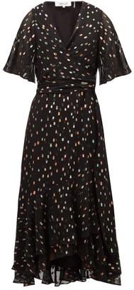 Diane von Furstenberg Berdina Fil-coupe Chiffon Wrap Dress - Black Multi