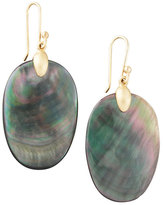 Ted Muehling Large Black Mother-of-Pearl Chip Earrings