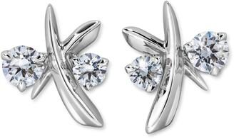 Swarovski Diama Encounter Stud Earrings 18k White Gold