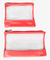 Lug Coral Pink Runway Clearview Pouch Set