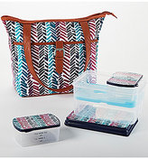 Fit & Fresh Delano Chevron Sketch Lunch Bag Kit