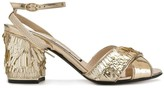 No.21 sequinned block heel sandals