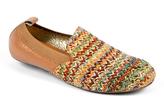 Yosi Samra Natural Woven Chevron Leather Loafer