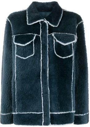 Liska Shearling Shirt Jacket