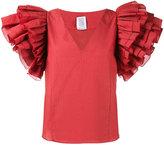 Rosie Assoulin maxi ruffle sleeve blouse
