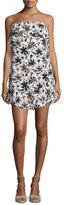 A.L.C. Romy Strapless Floral Silk Mini Dress