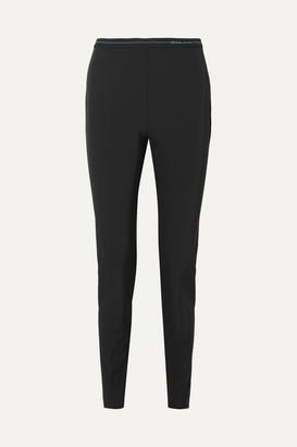 Prada Logo-detailed Stretch-twill Leggings - Black