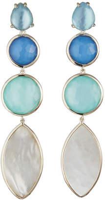 Ippolita Wonderland 4-Stone Linear Earrings in Brazilian Blue