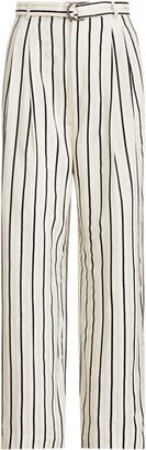 Ralph Lauren Belted Satin Trouser