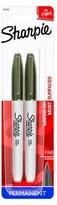 Sharpie® Permanent Marker, Fine Tip, 2ct - Black