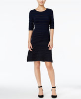 Tommy Hilfiger Avery Striped Fit & Flare Dress, Only at Macy's