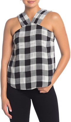 Rachel Roy Raj Checkered Tank Top